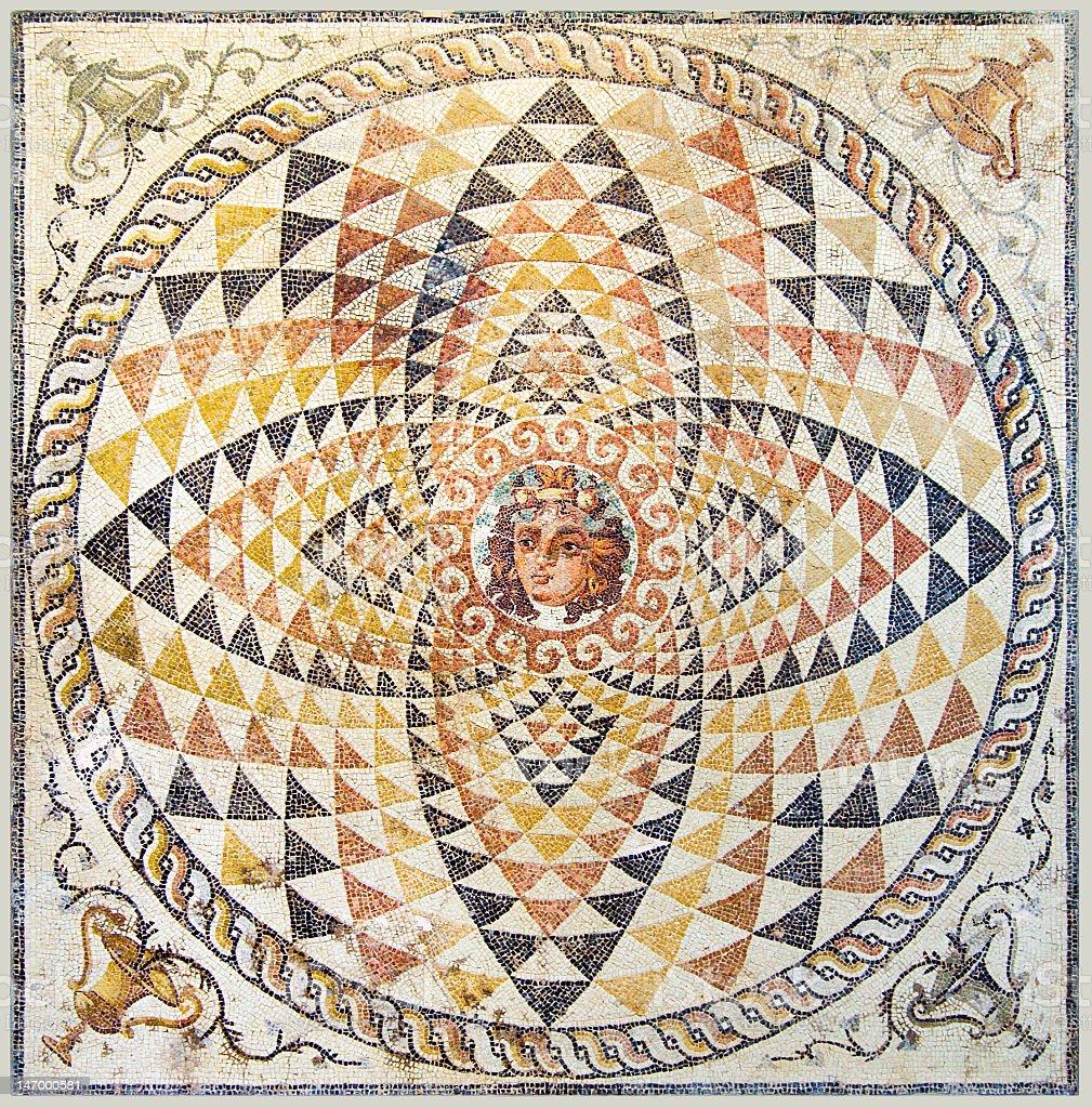 Ancient Mosaic royalty-free stock photo