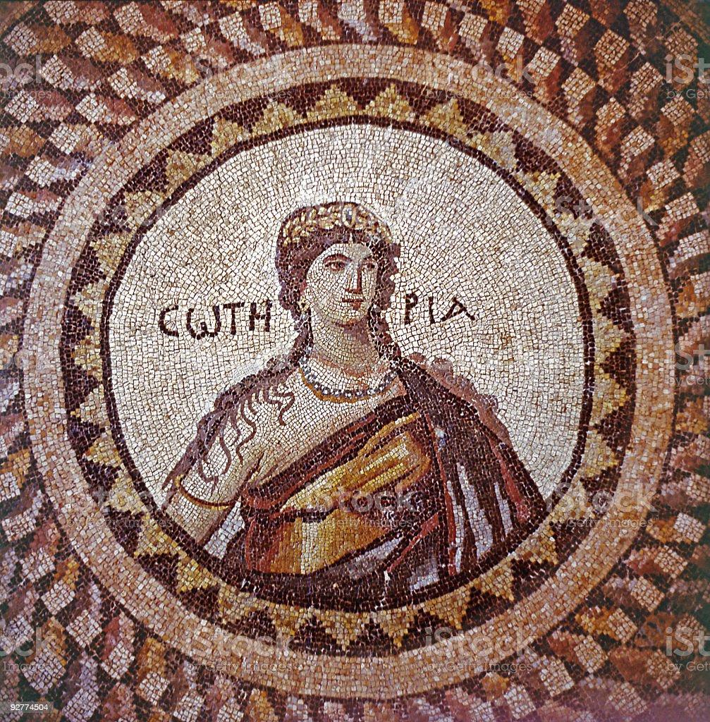 Ancient Mosaic stock photo