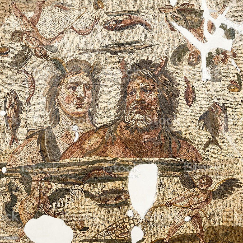 Ancient mosaics in Antakya (Hatay), Turkey stock photo