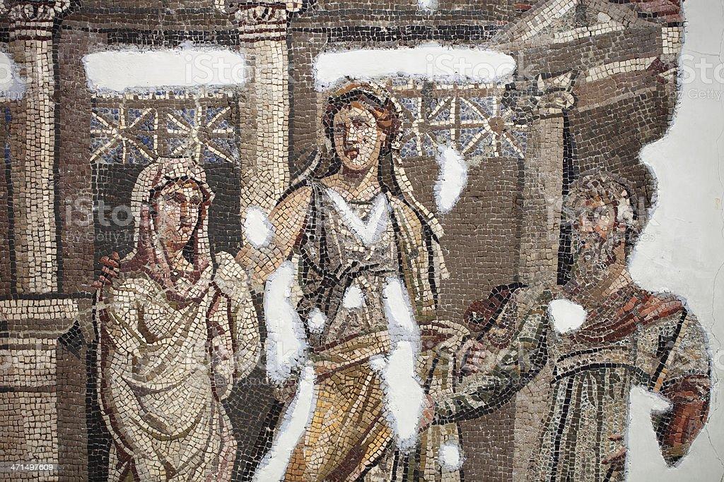 Ancient mosaics in Antakya (Hatay), Turkey royalty-free stock photo