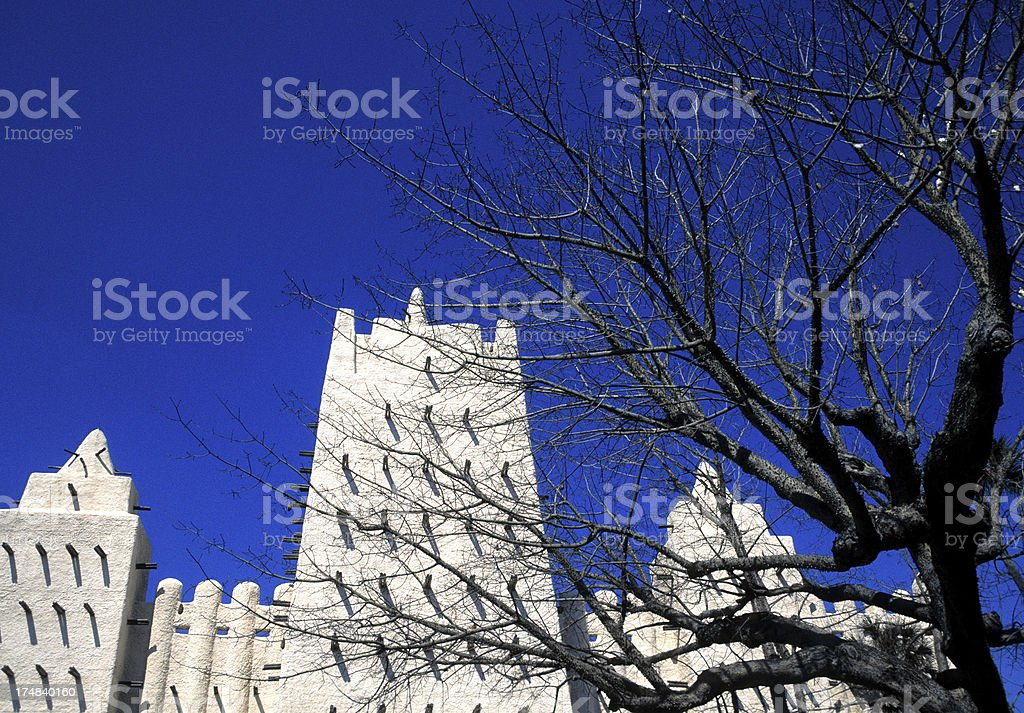 Ancient Mosque in Timbuktu, Mali, West Africa royalty-free stock photo