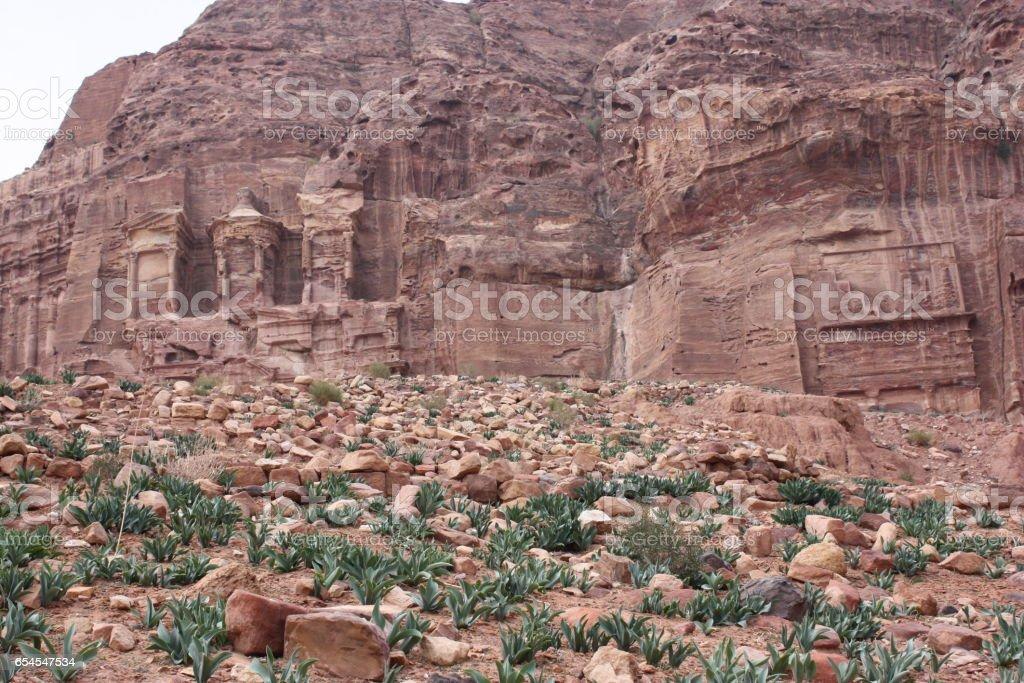 Ancient Nabatean city of Petra, Jordan Middle East stock photo