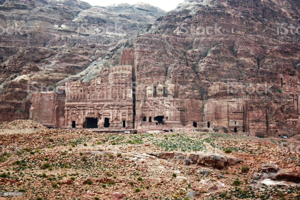 Ancient Nabatean city of Petra, Jordan Middle East stock photo