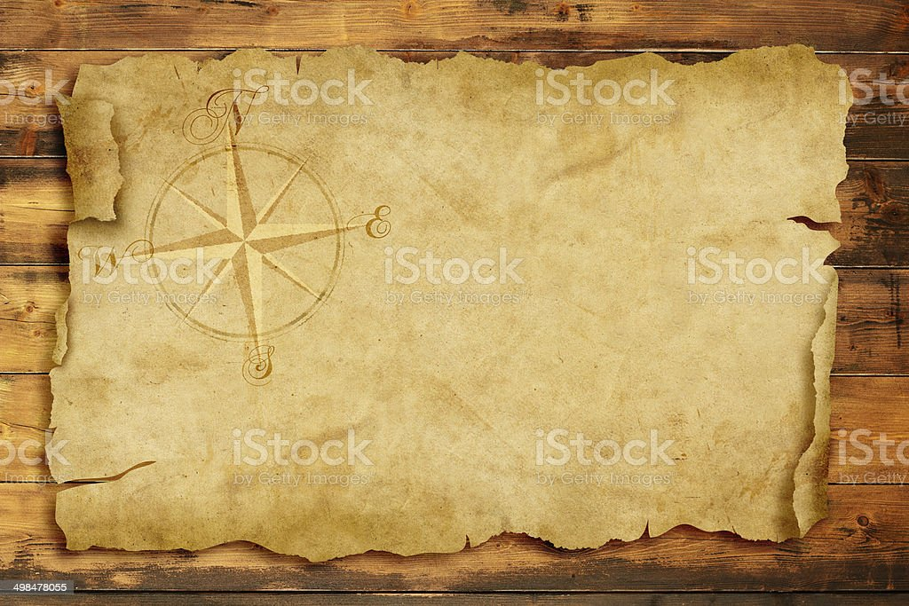 ancient nautical map stock photo
