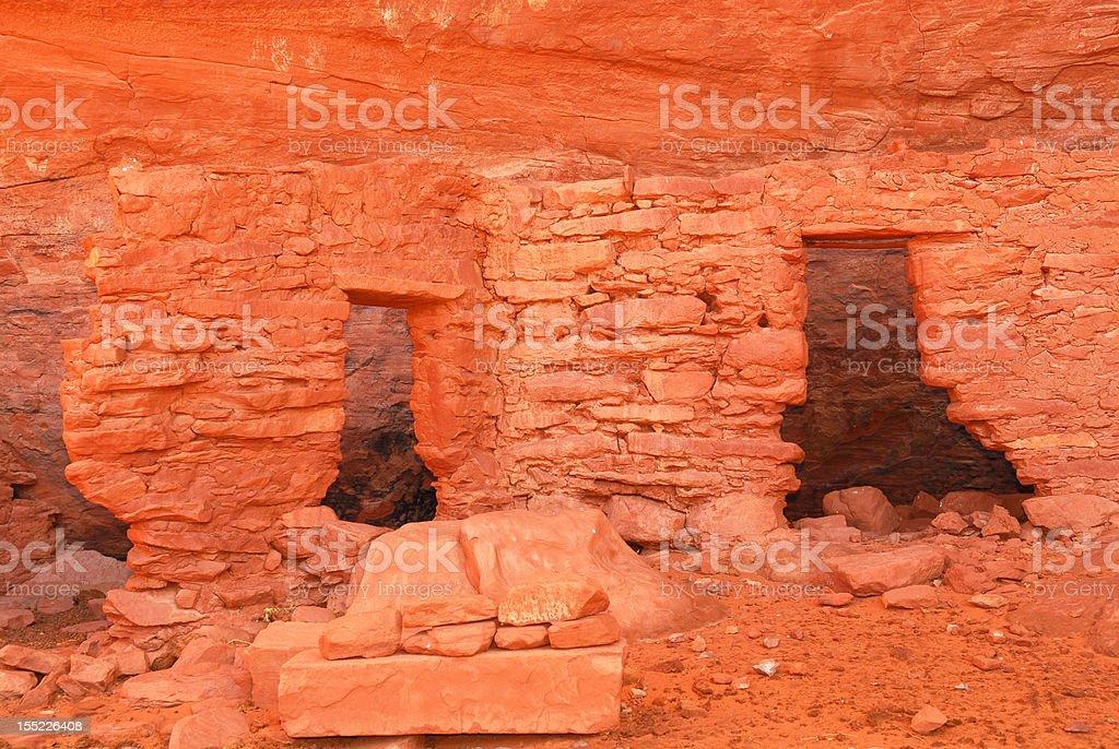 Ancient Navajo Anasazi dwelling stock photo