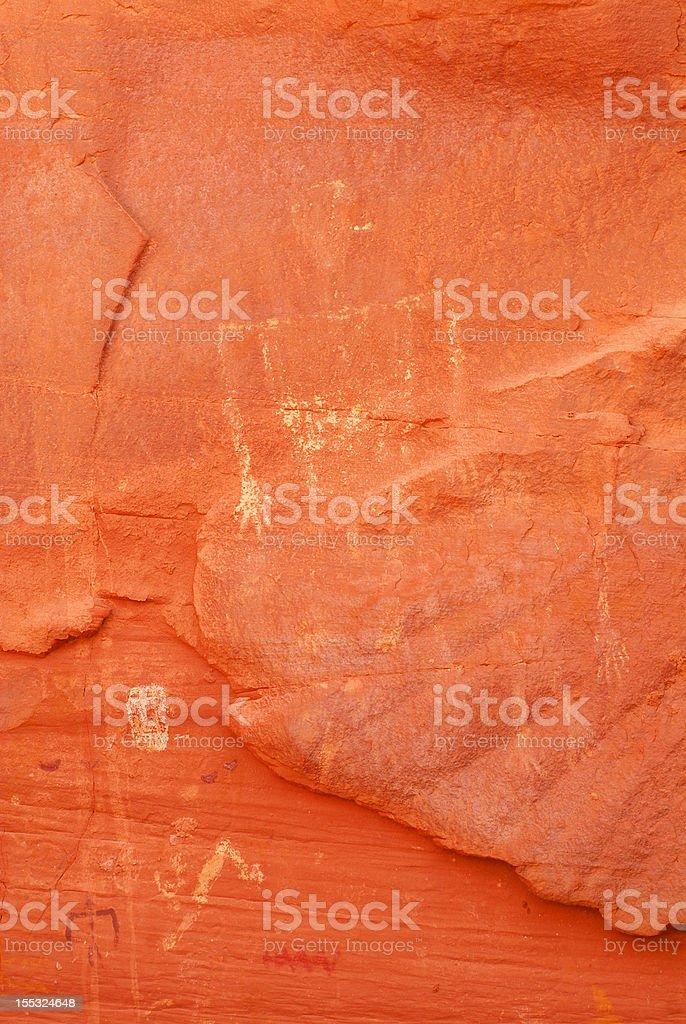 Ancient Navajo Petroglyphs stock photo