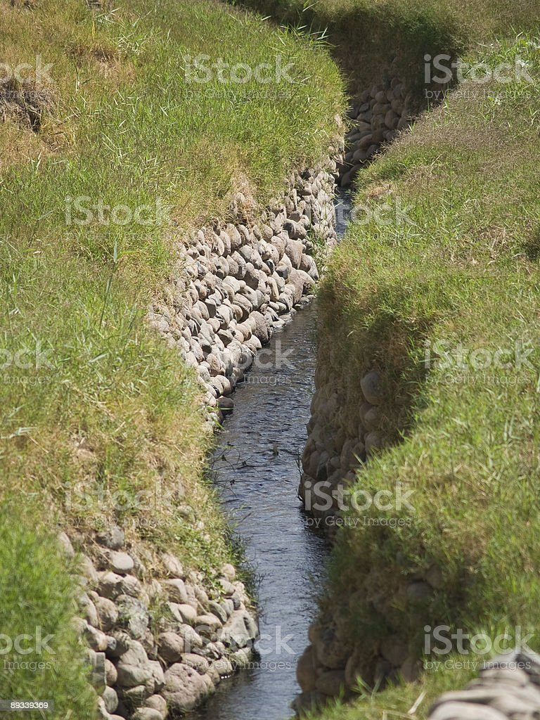 Ancient Nazca irrigation system stock photo