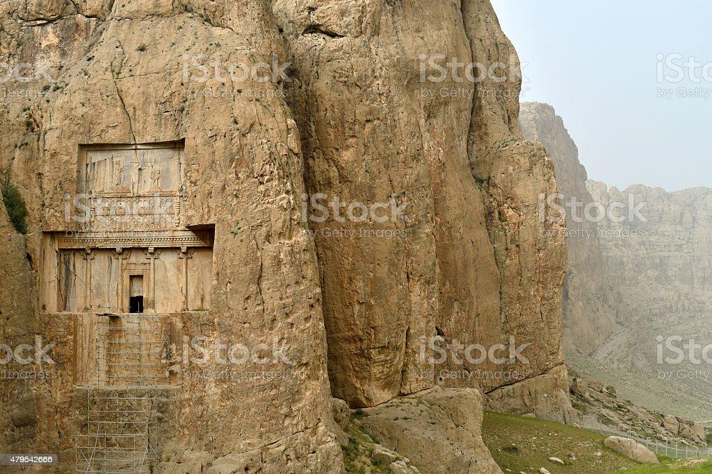 Ancient necropolis in Iran. stock photo