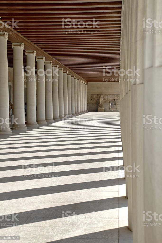 Ancient Agora royalty-free stock photo