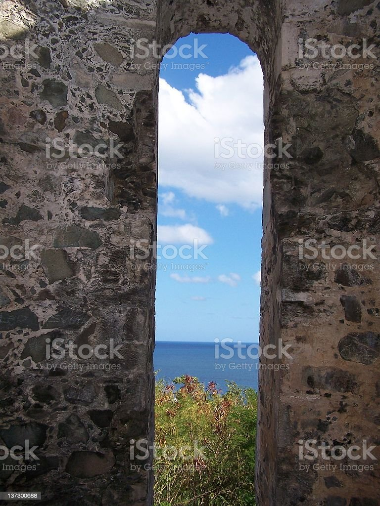 ancient ocean view royalty-free stock photo