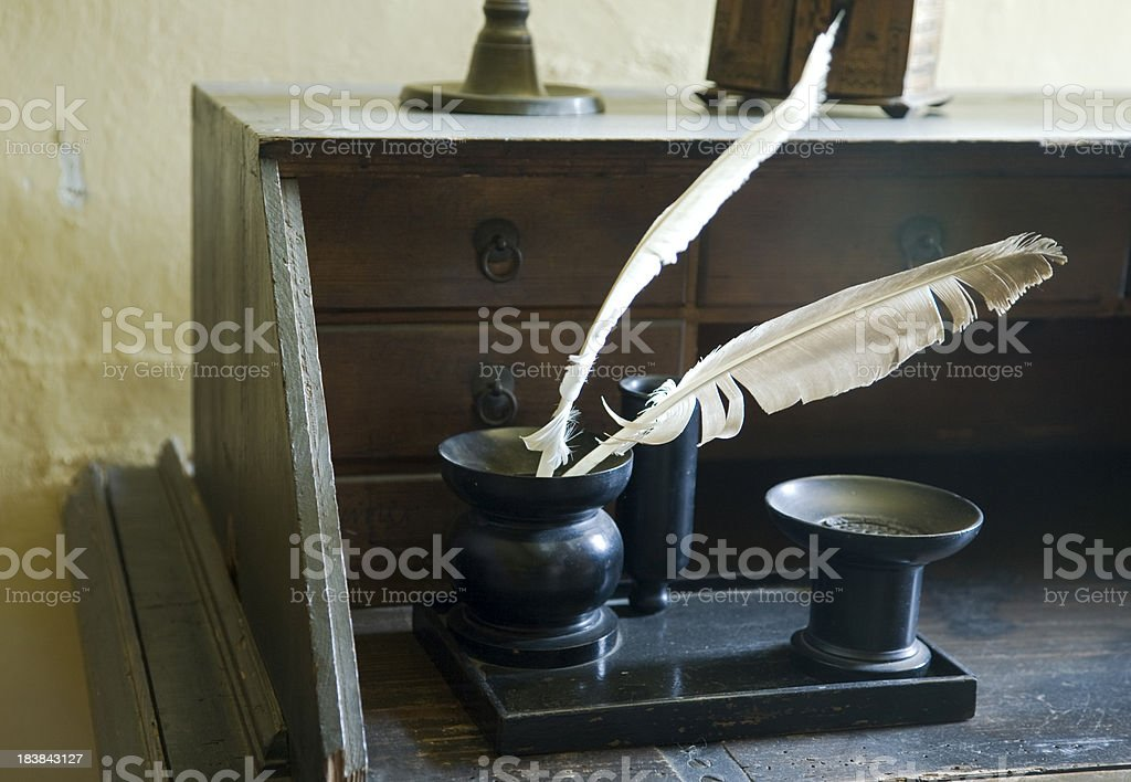 ancient office stock photo