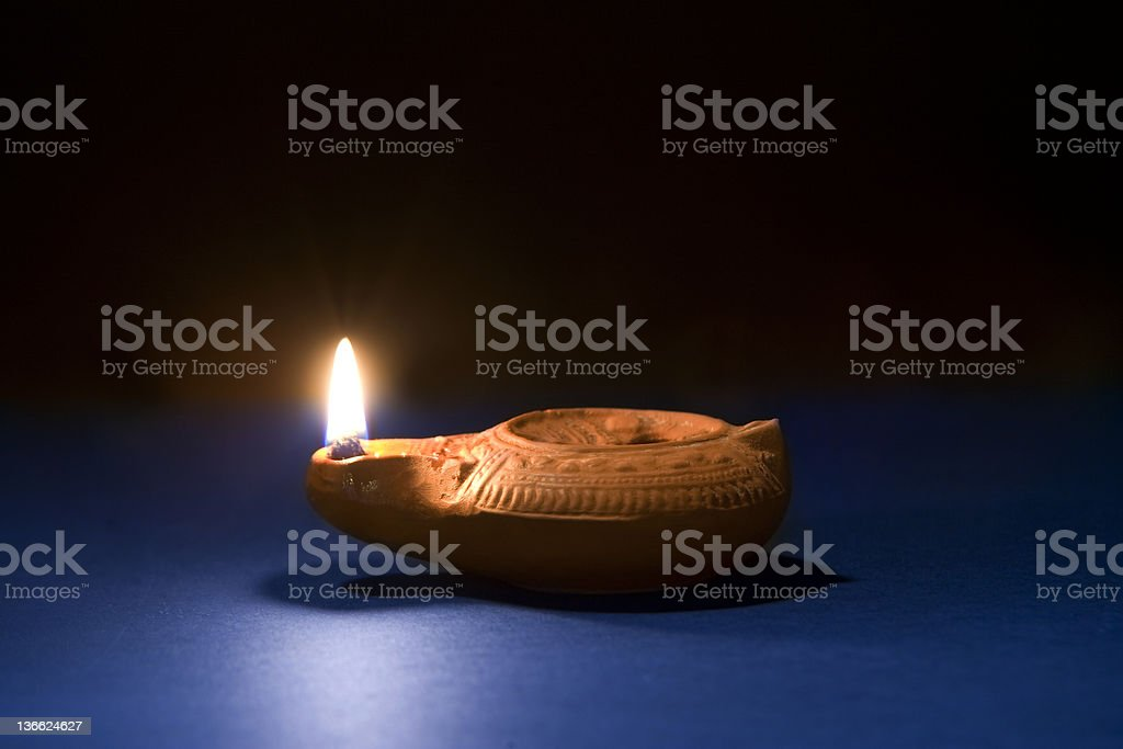 Ancient oil lamp royalty-free stock photo