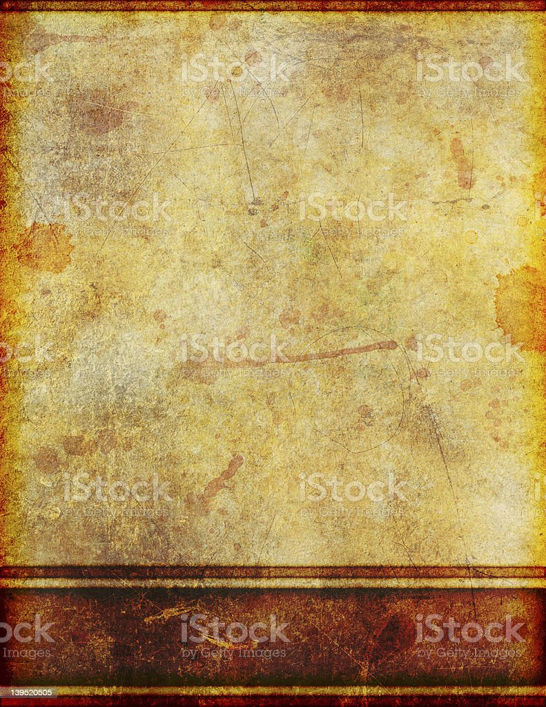 Ancient Old Dirty Stained Parchment Paper royalty-free stock photo