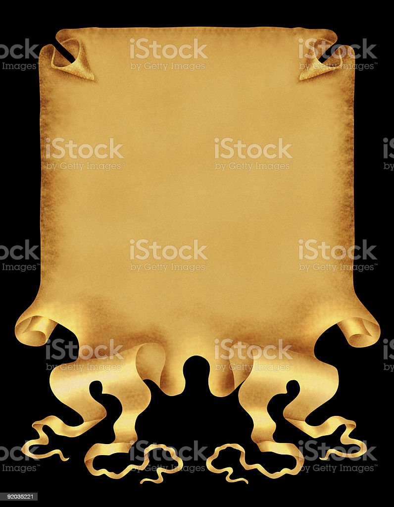 Ancient Old Paper Scroll royalty-free stock photo