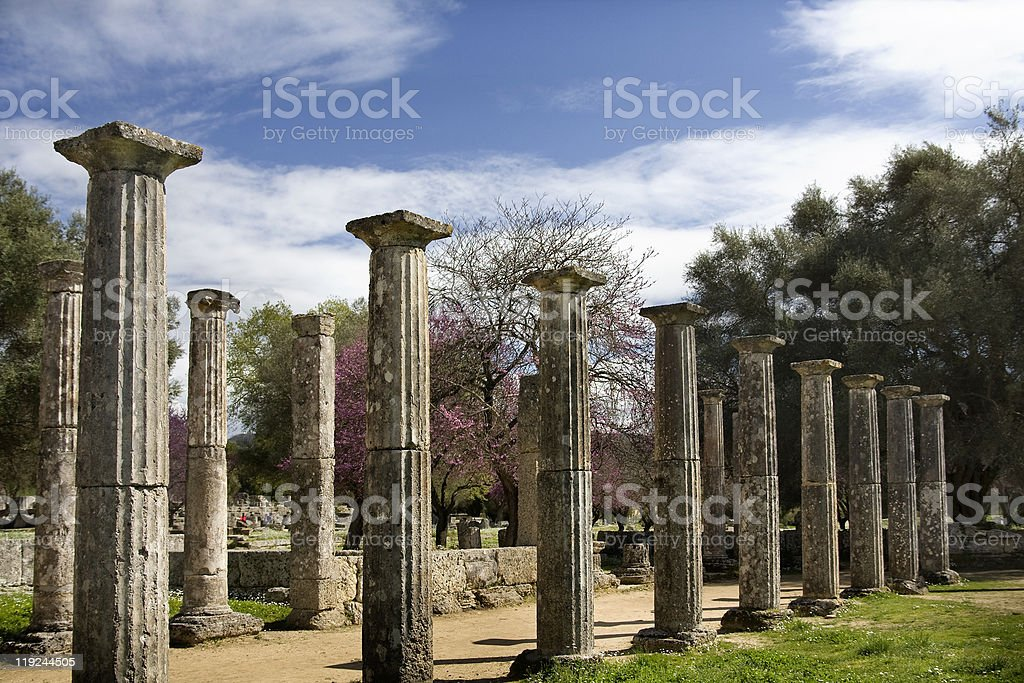 Ancient Olympia (Greece) stock photo