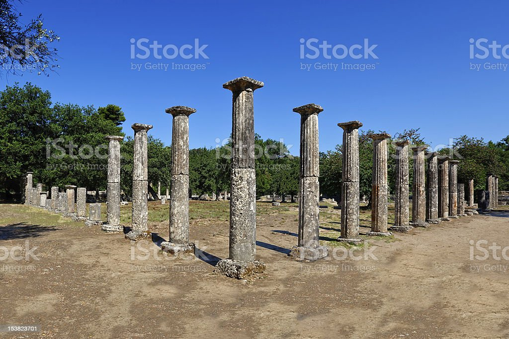 Ancient Olympia stock photo