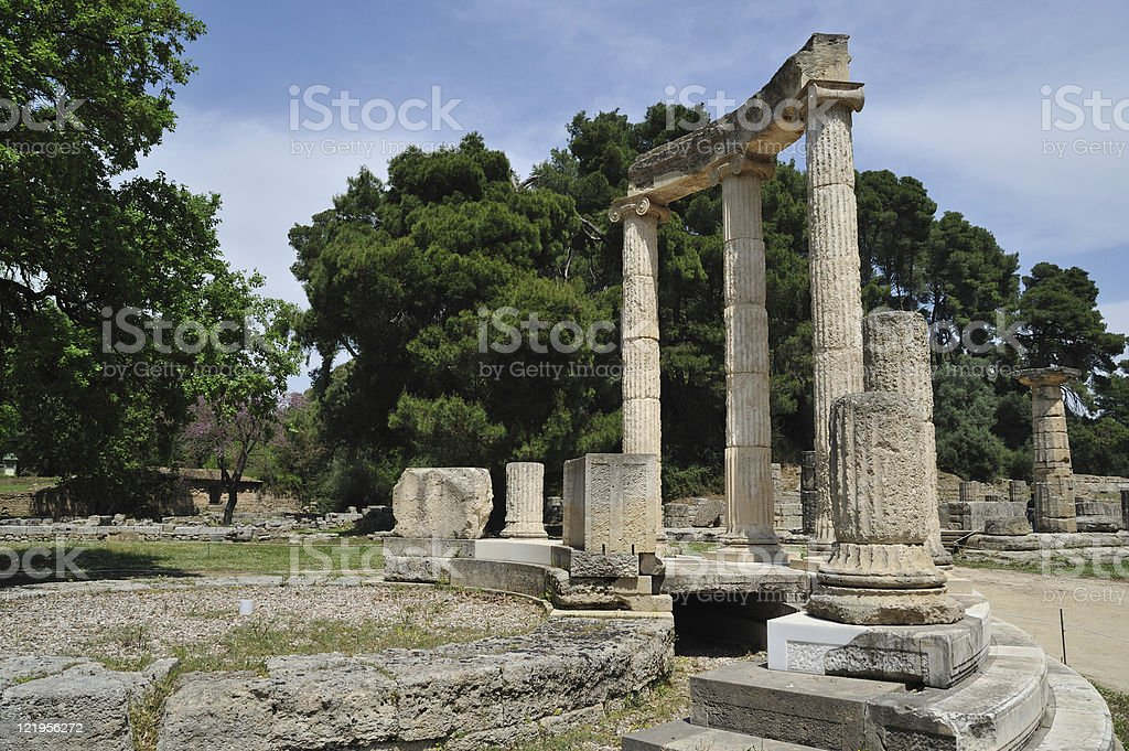 Ancient Olympia-Peloponnese-Greece stock photo