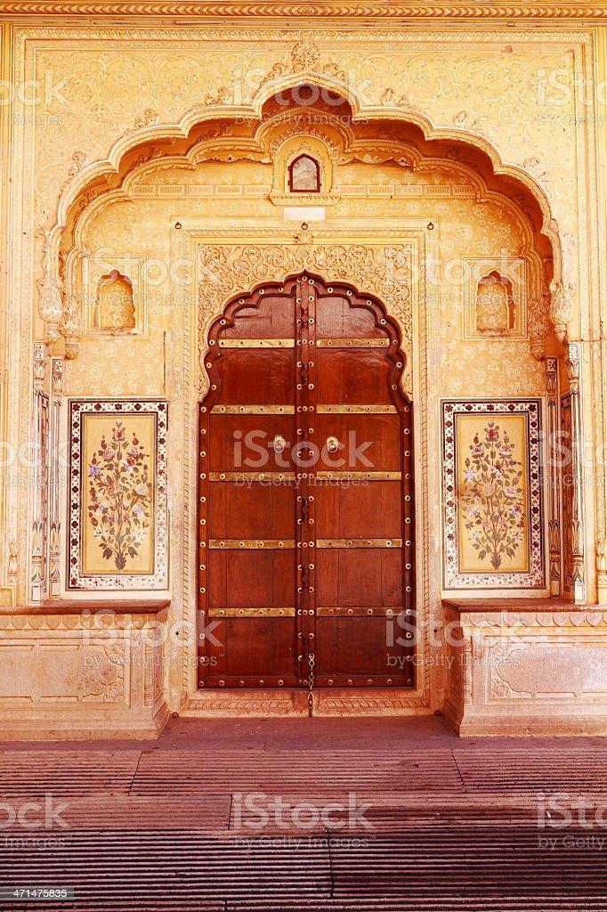 Ancient Ornate Door stock photo