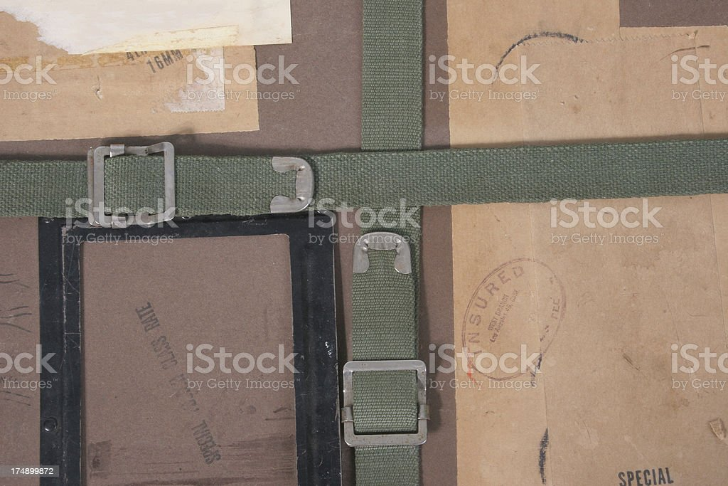 Ancient package stock photo