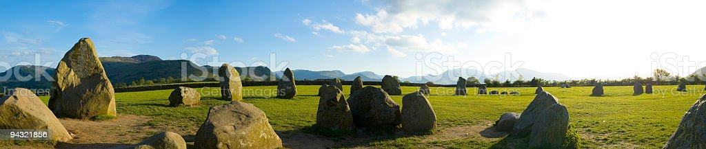 Ancient pagan monument stock photo