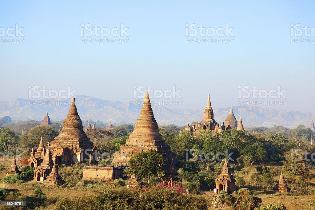 Ancient pagodas in Bagan, Myanmar royalty-free stock photo
