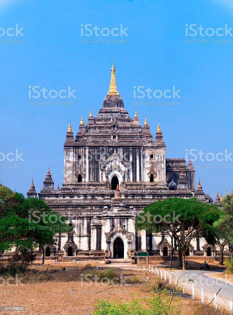 Ancient pagodas in Old Bagan, Myanmar royalty-free stock photo