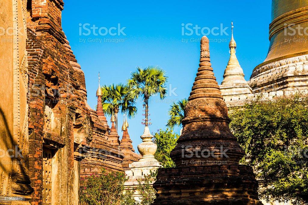 Ancient Pagodas of Bagan (Pagan), Myanmar(Burma) stock photo