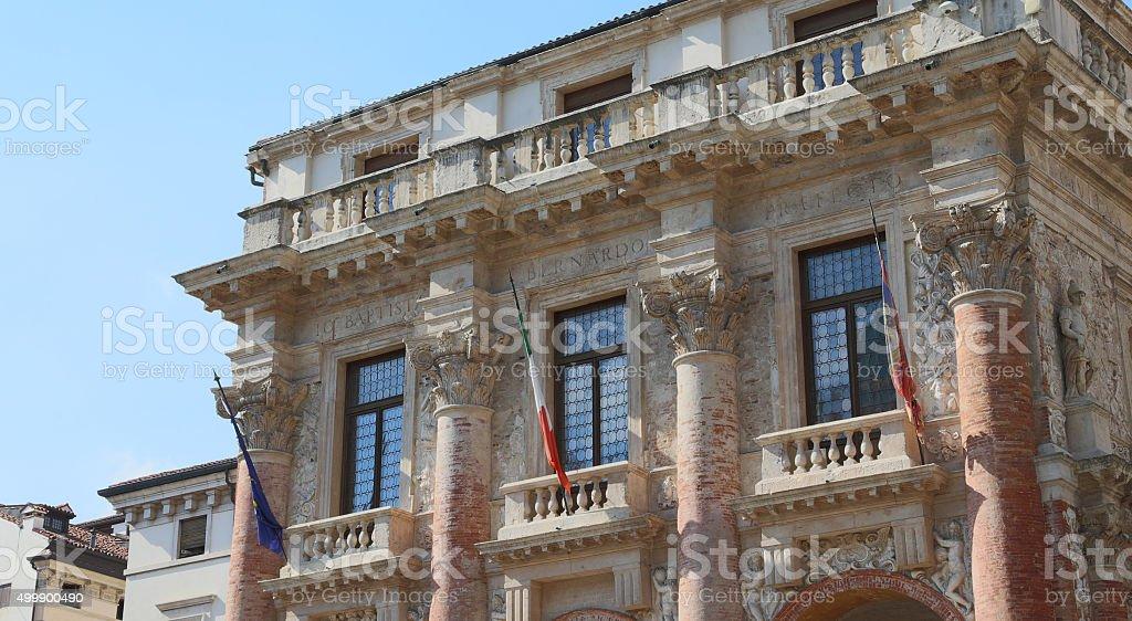 Ancient Palace called Loggia del Capitaniato in Vicenza stock photo