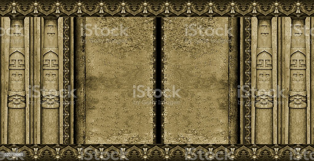 Ancient Palace Doors stock photo