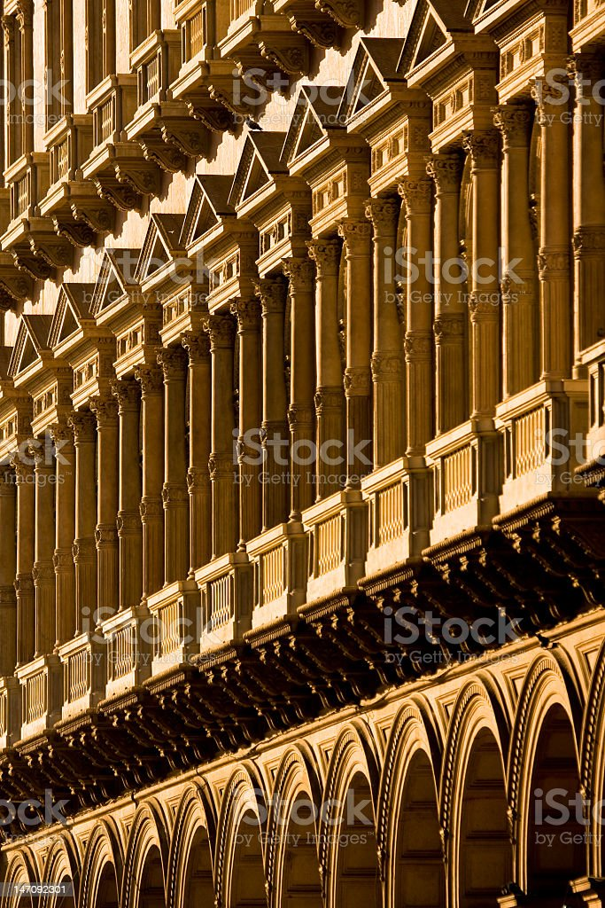 Ancient palace in Milan stock photo
