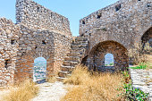 Ancient Palamidi fortress in Nafplio, Greece
