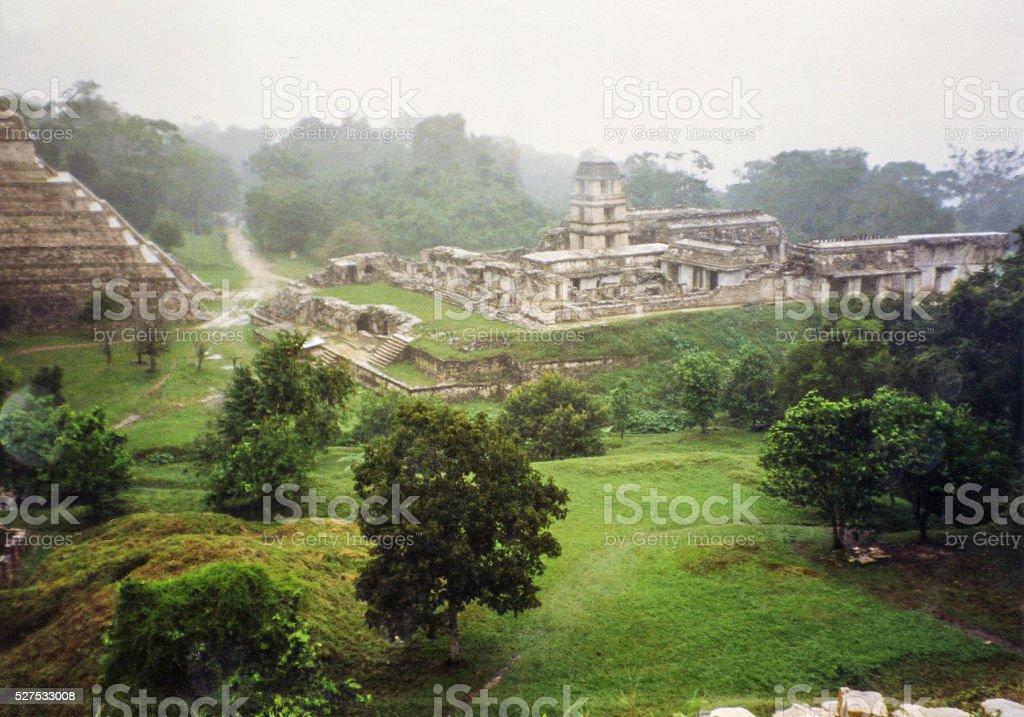 Ancient Palenque stock photo