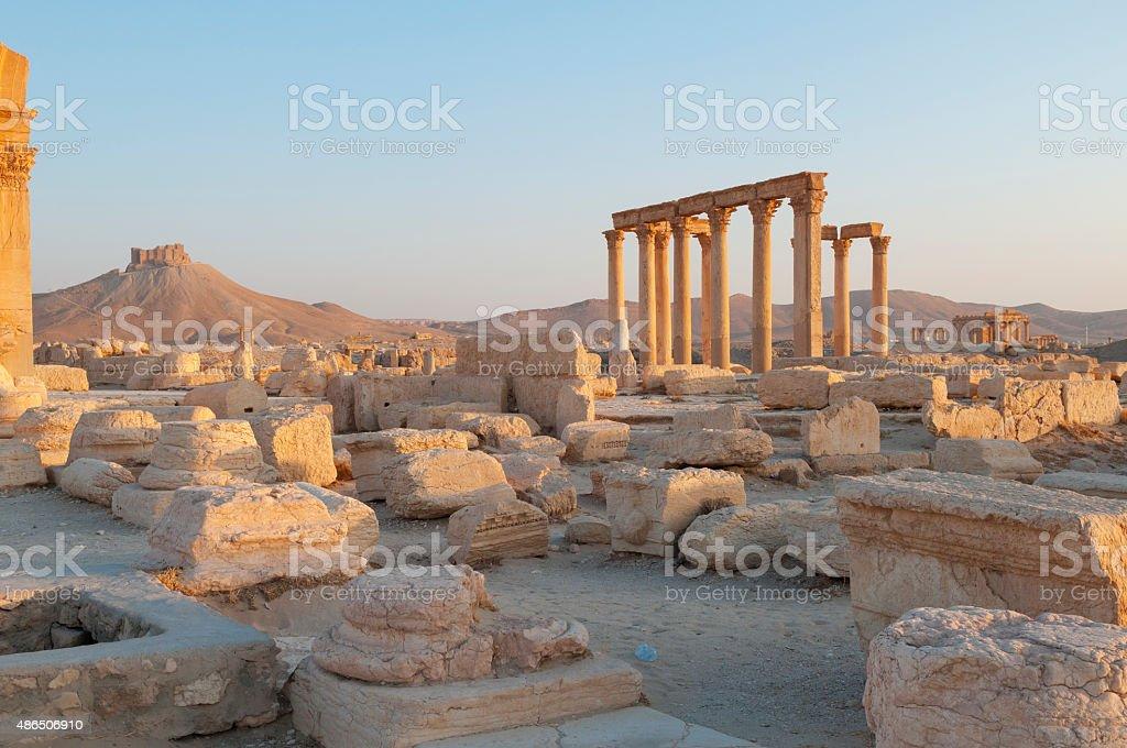 Ancient Palmyra, Syria stock photo