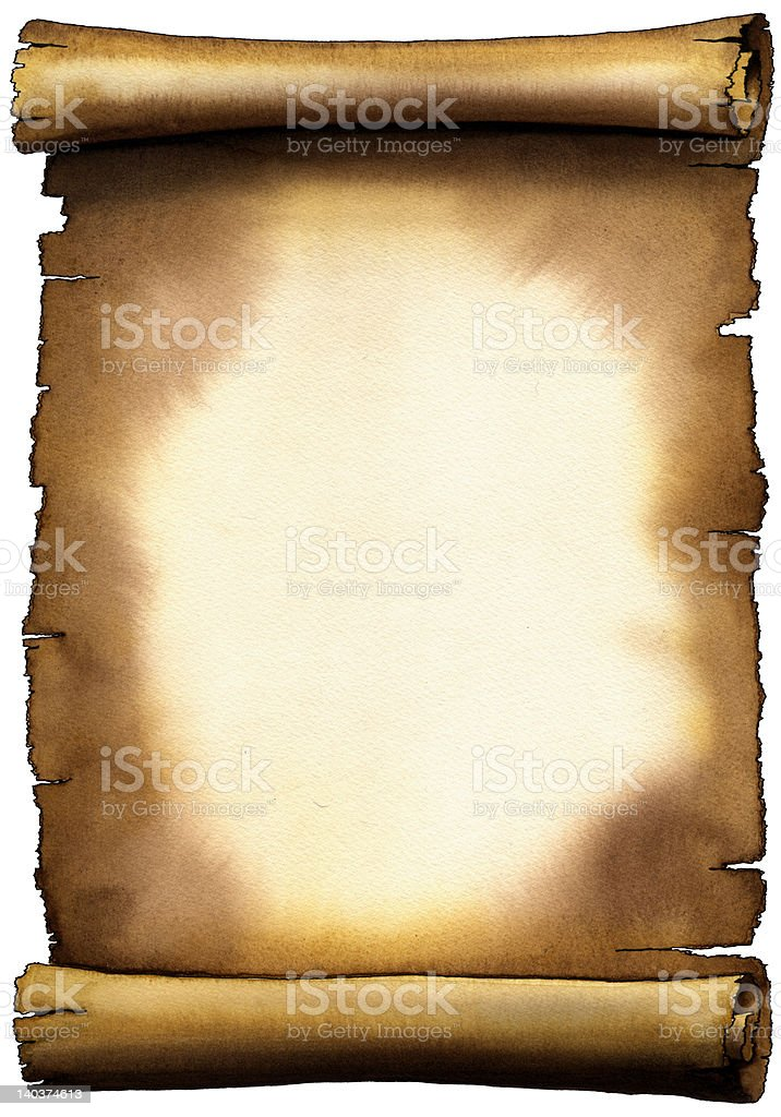 Ancient Paper Scroll stock photo