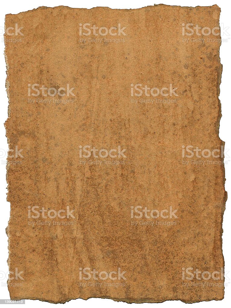 Ancient parchment (2 of 2) royalty-free stock photo