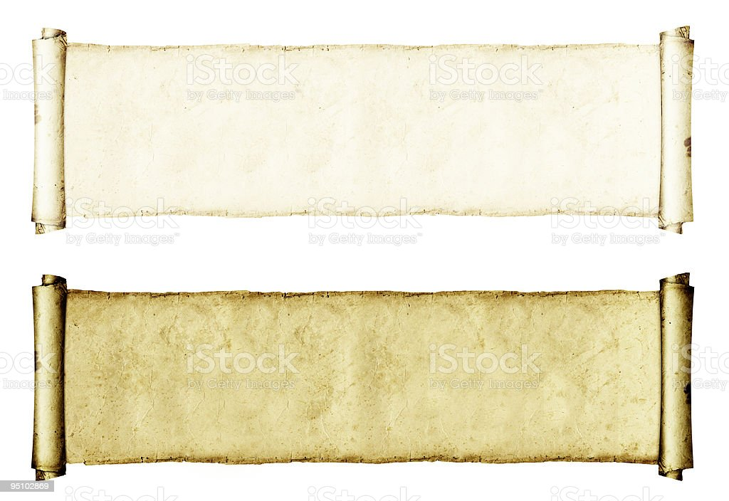 ancient parchment royalty-free stock photo