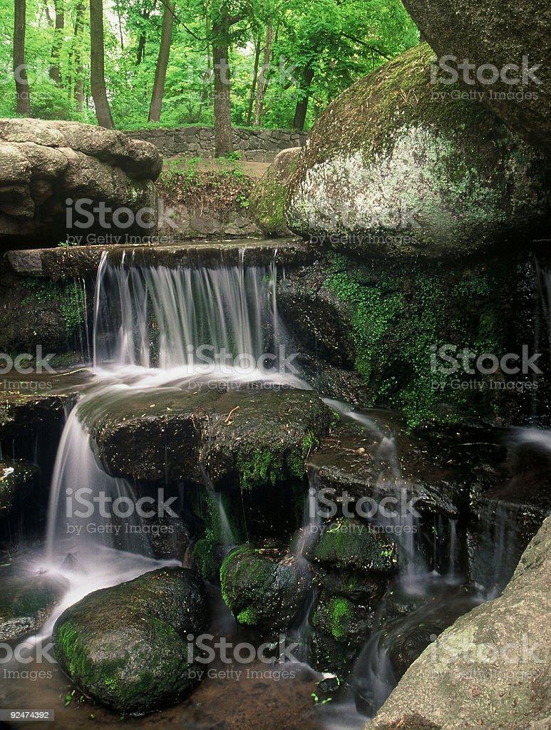 Ancient Park.Waterfall. royalty-free stock photo