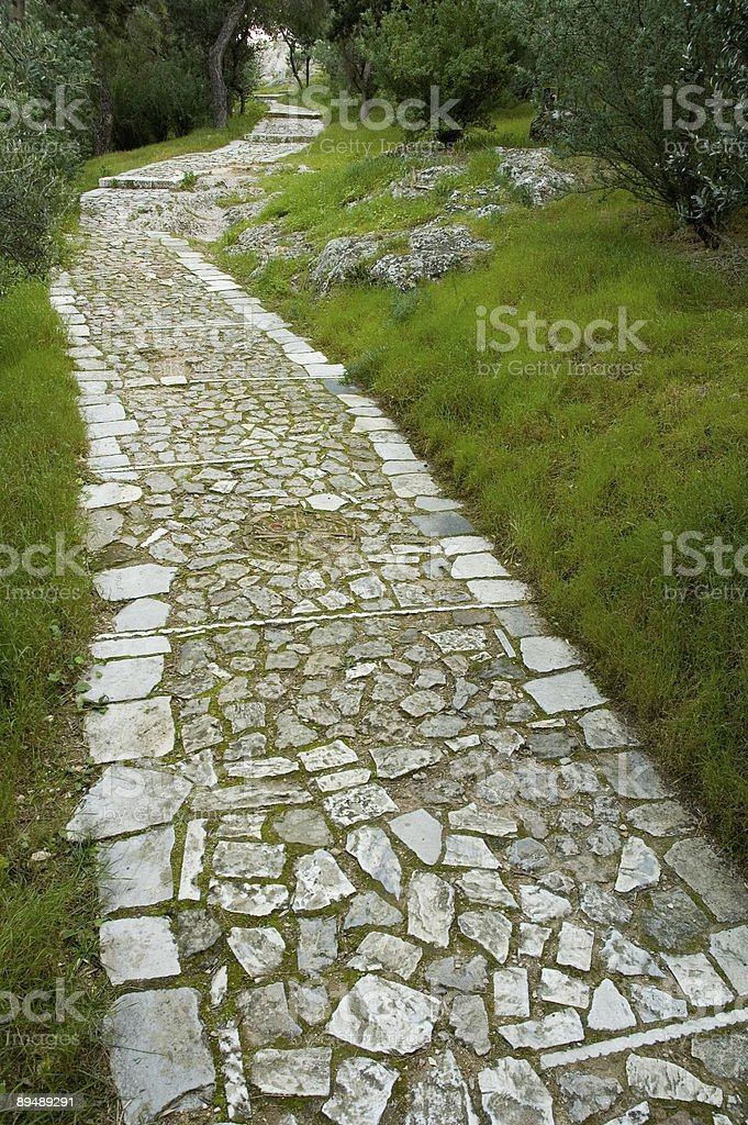 Ancient path in the park royalty-free stock photo