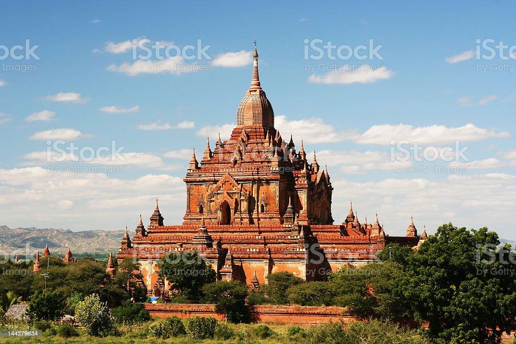 Ancient paya in Bagan (Myanmar) royalty-free stock photo