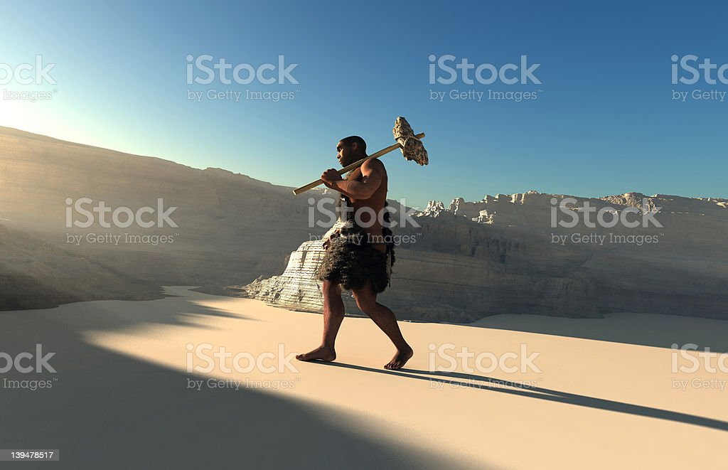 Ancient people stock photo