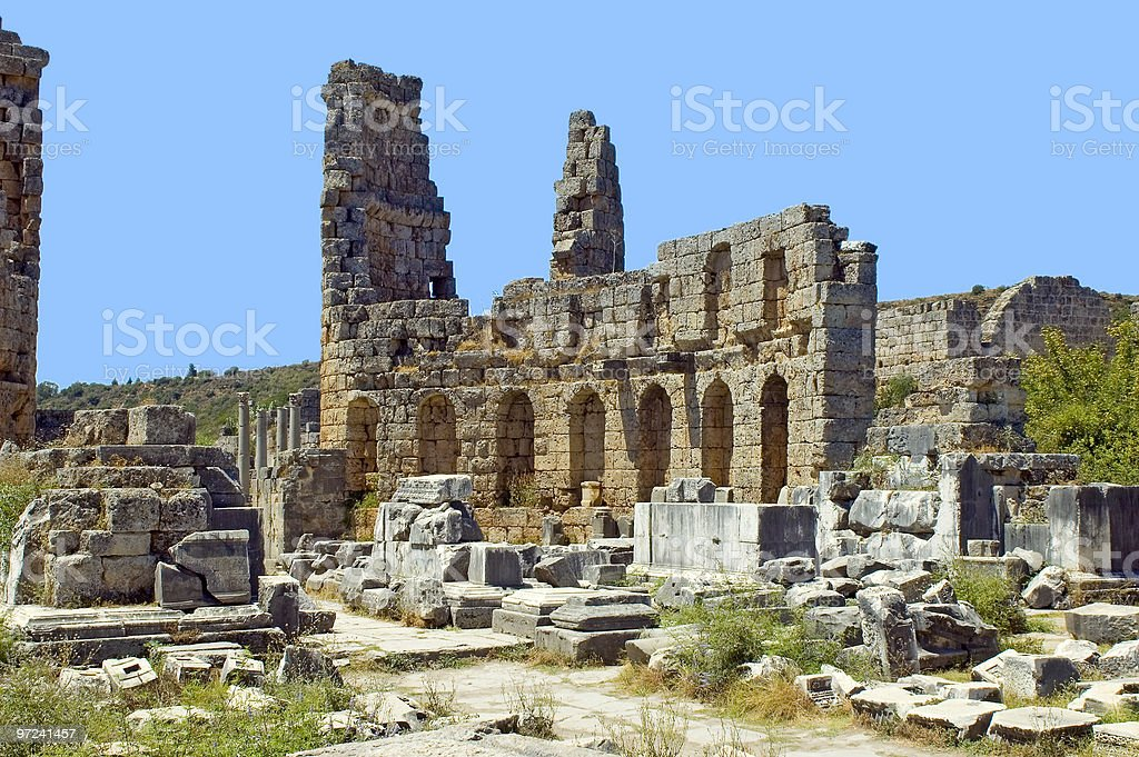 Ancient Perge royalty-free stock photo
