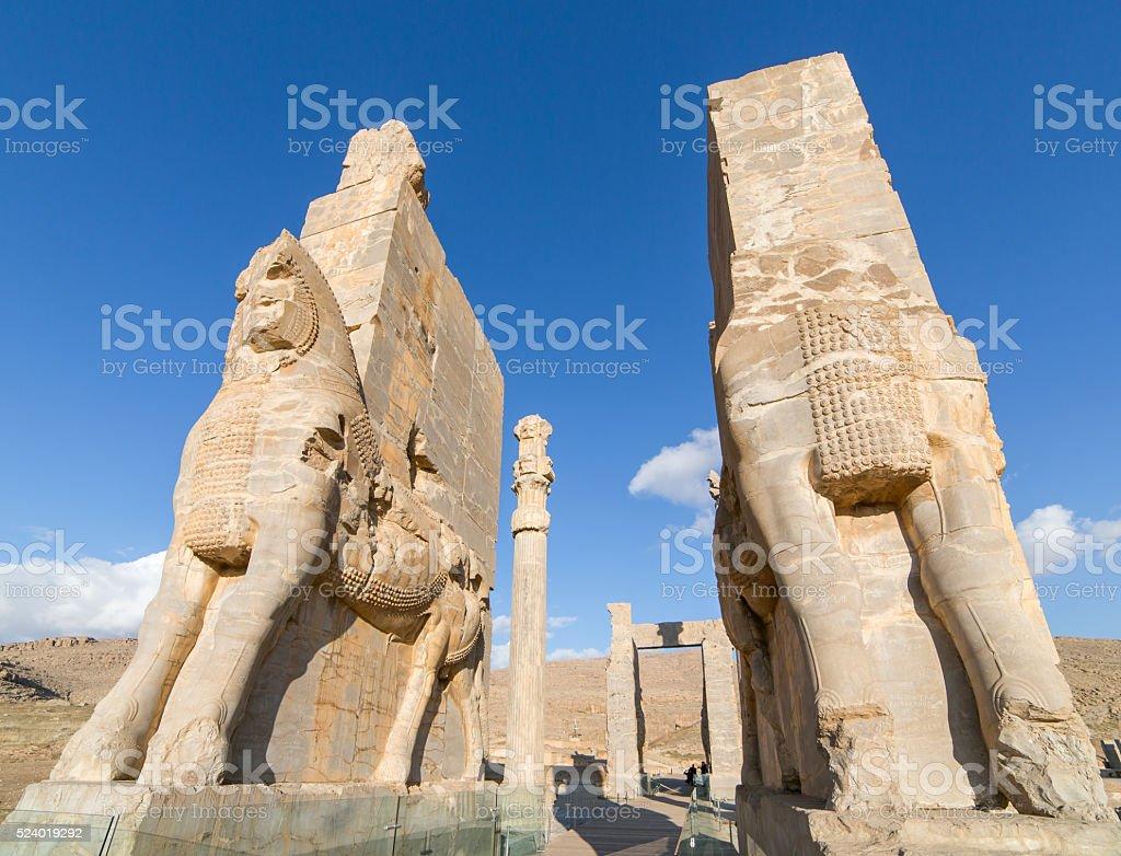 Ancient Persepolis Gate, Iran stock photo