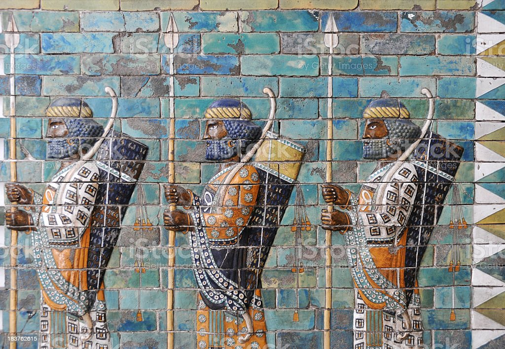 Ancient Persians stock photo