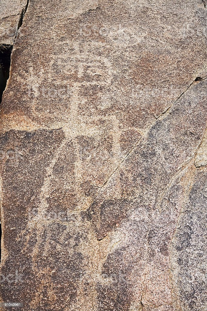 Ancient Petroglyph in Chile stock photo