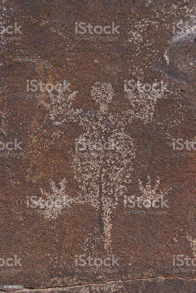 Ancient Petroglyph stock photo