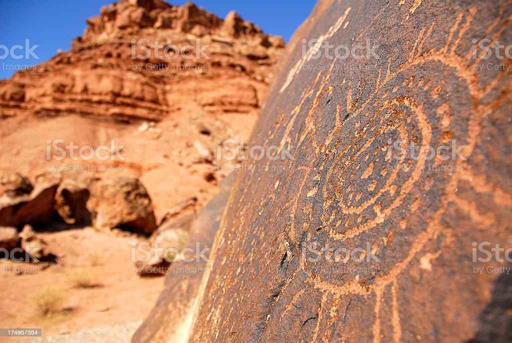 Ancient Petroglyph Rock Art royalty-free stock photo