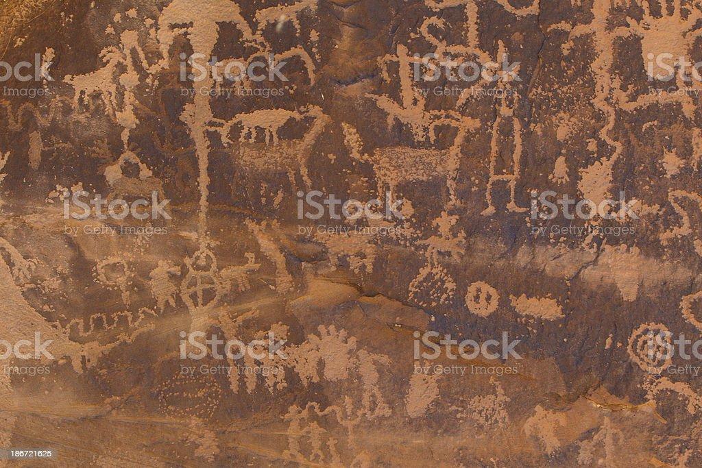 Ancient Petroglyphs from the desert Southwest USA stock photo