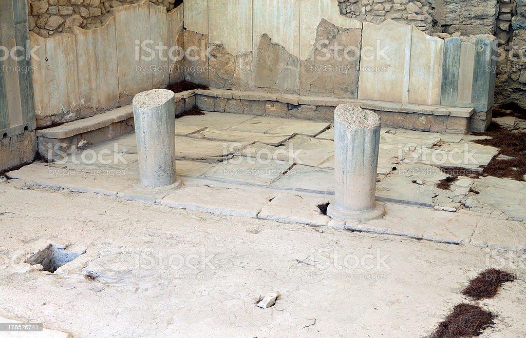 Ancient Phaestos at Crete island in Greece stock photo