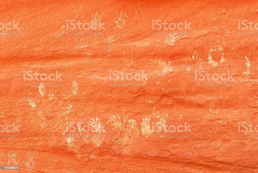 Ancient Pictographs in Mystery Valley stock photo