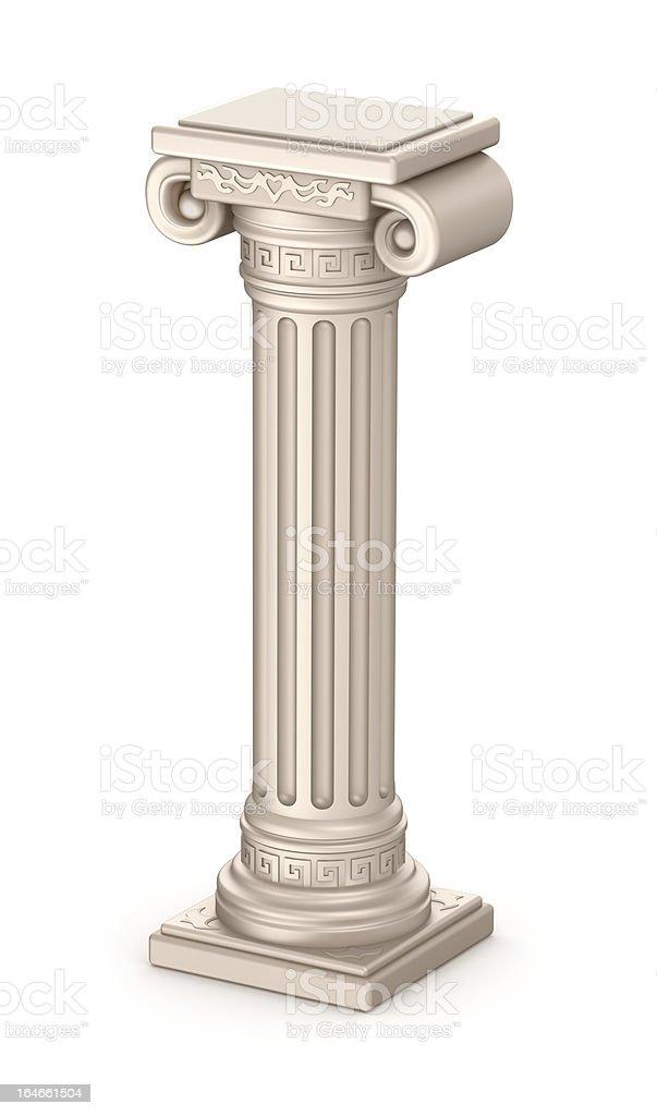 Ancient pillar stock photo